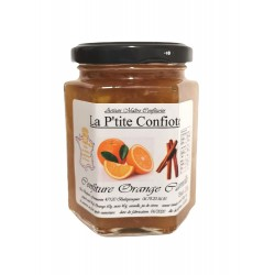 Orange jam with cinnamon
