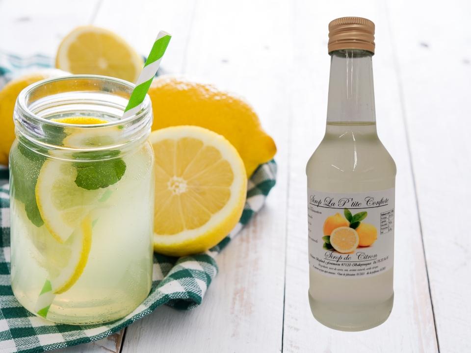 sirop de citron artisanal La P'tite Confiote