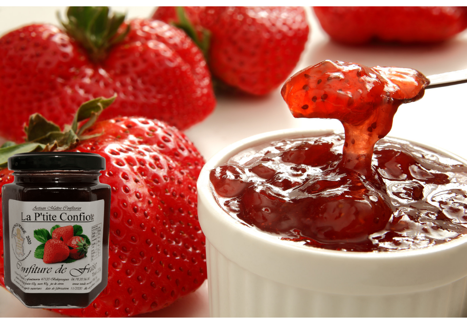 French strawberry jam