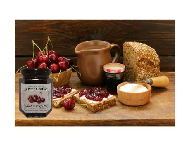 French cherry jam